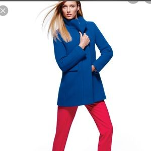 NWT j.crew cocoon coat in royal blue